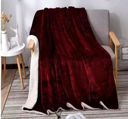5 by 6 Flannel Throw Sherpa Super warm Fleece blanket image 4