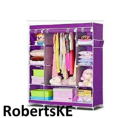 purple stylish portable wardrobe image 1