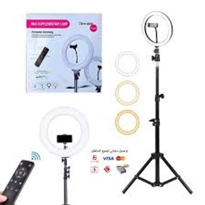 14 inch Ring Light Kit ring light with adjustable tripod stand Live makeup ring light for tik tok Youtube live streaming image 1