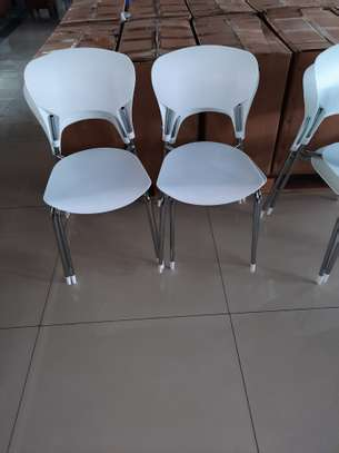Armless Stackable PVC Chairs image 1