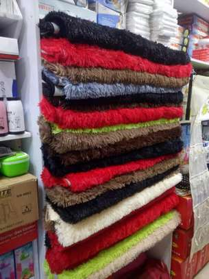 Soft and unique fluffy carpets 5 by 8 image 1