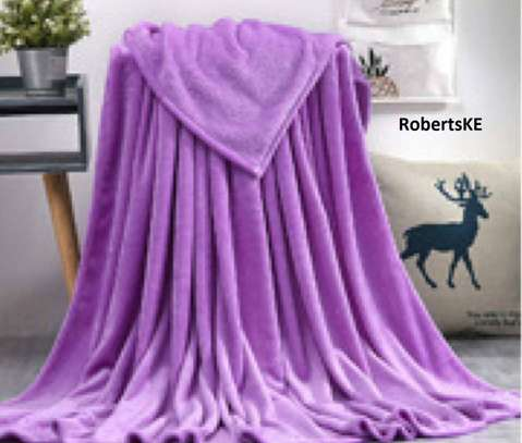 luxury purple fleece blanket image 1