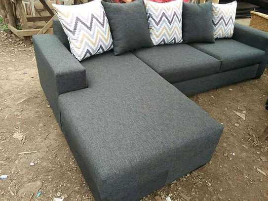 Beautiful Simple Quality L-Shaped 6 Seater Sofa image 1