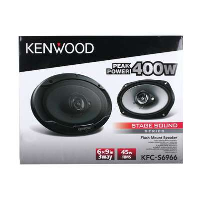 KENWOOD KFC-S6966 6 x 9 inch 3 Way Speakers 400W  45W RMS Flush Mount Shallow Design