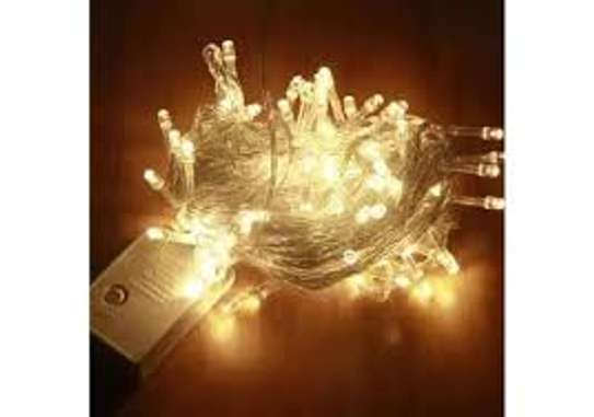 Christmas Lights Outdoor Indoor String Lights with 8 Modes Warm image 1