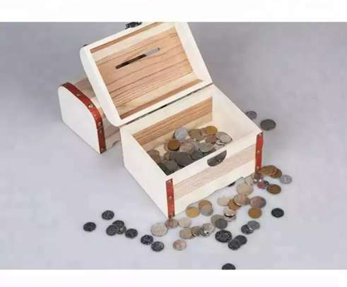 PIGGY BANKS - WOODEN MONEY BOX image 3