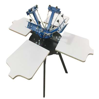 4 color Screen Printing Machine image 1