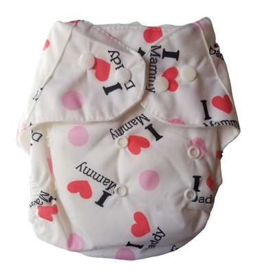 Washable Reusable Adjustable Baby Diaper with 3 Inserts image 2