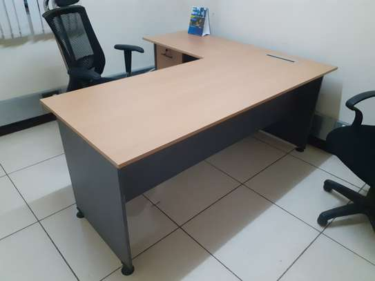 L-Shaped Executive Desk 1.6Meter Ksh. 23,500.00 With Free Delivery image 4