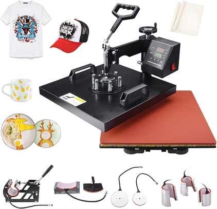 "Heat Press Machine 15"" X 15"" Professional Swing Away Heat Transfer Digital Sublimation 360-Degree Rotation Multifunction Combo for T-Shirt Mugs Hat Plate Cap image 1"