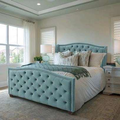 Modern bed designs/5*6 queen size tufted beds for sale in Nairobi Kenya image 1