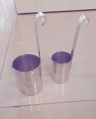 Stainless steel milk scoop image 1