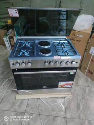 Master chef electric gas cooker and oven image 4
