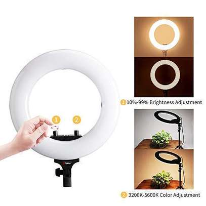 "Tolifo 14"" Bi Color LED Ring Light image 1"