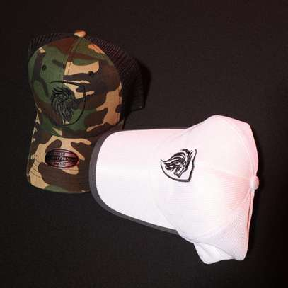 Camo And White Truckers Hats