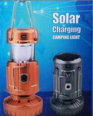 Solar charging camping lantern image 1