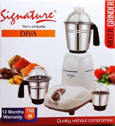 Diva Mixer Grinder 750W  Stainless Steel 3 Jars image 1