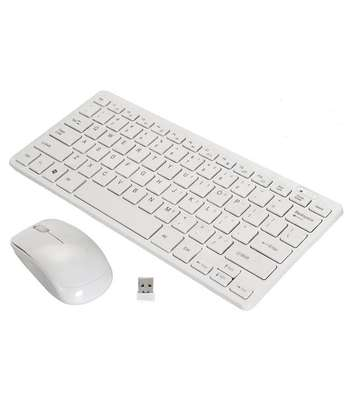 Mini Wireless Keyboard Mouse Combo 2.4 GHz - White