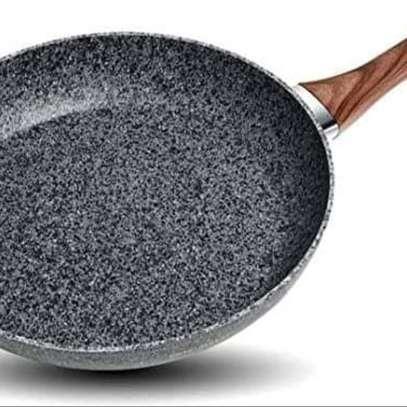 Nonstick Frying Pan Skillet 20cm, Slow Cookware Granite Coating,* Pans Saucepans Omelette Skillet. (Grey, 8 inch) image 1