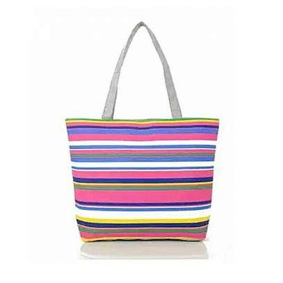 striped  handbag image 1