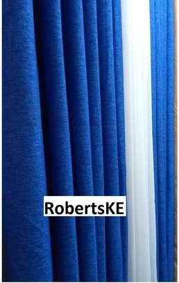 curtains blue linen image 1
