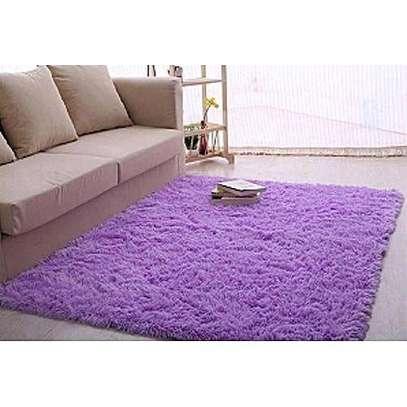 purple fluffy carpet image 1