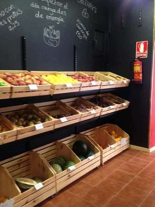 Supermarket and retail shelves