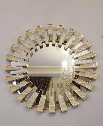 Golden round mirror image 1