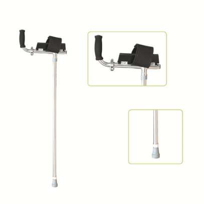 Gutter armrest crutches - Special Handle Lightweight Walking Forearm Crutch(a pair) image 1
