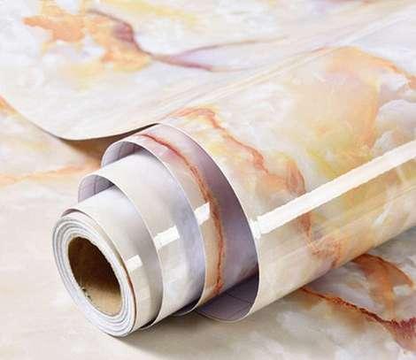 Self adhesive marble  profile vinyl wallpaper mat image 2