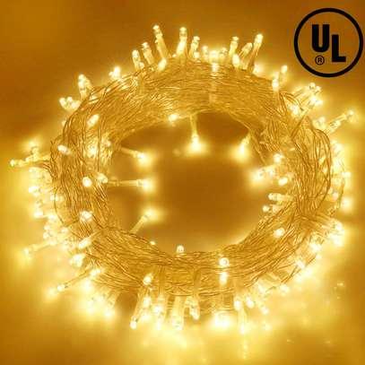 Blingstar Christmas Lights 33ft 100 LED String Lights 30V Plug in Fairy Lights Waterproof 8 Modes Warm White Fairy String Lights for Indoor Outdoo image 1