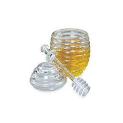 Acrylic honey jar with Dipper image 3