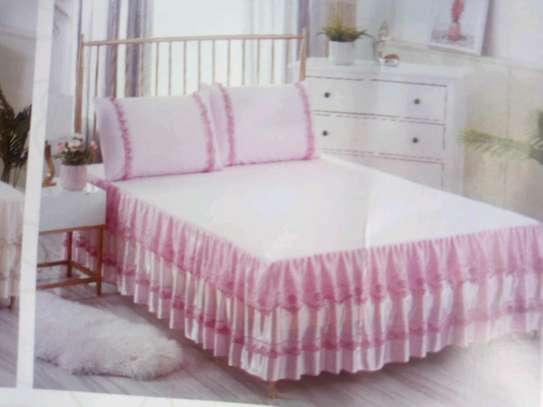 Cotton Bed skirt Bedcover image 3