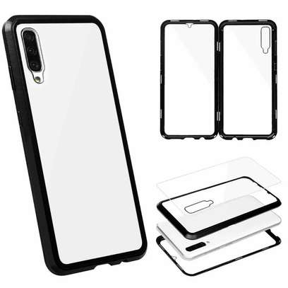 Magnetic Double-sided 360 Full Protection Glass Case for Samsung A70 A60 A50 A40 A30 image 2
