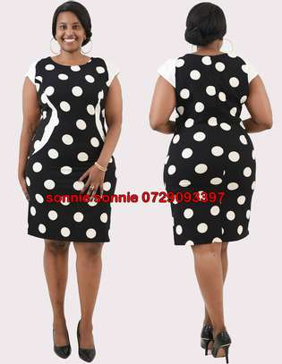 POLKA DOTS SHIFT DRESS image 1
