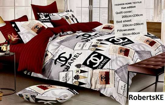 Chanel red and white 6by6 duvet cover image 1