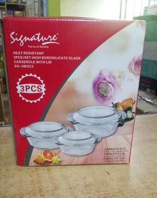 3 piece casserole set image 1