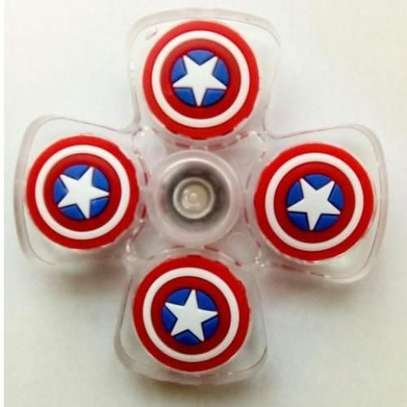 SHARE THIS PRODUCT   Generic Crystal Fidget Spinner Stress Reliever Captain America Print