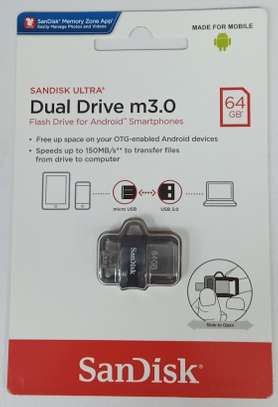 SanDisk 64GB Ultra Dual Drive M3.0 for Android Devices and Computers - MicroUSB, USB 3.0