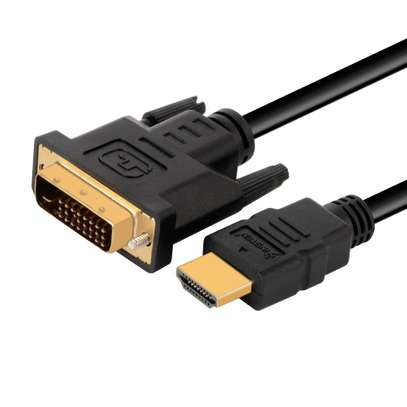 Hdmi to Dvi D 24+1 Male Cable Converter Genuine Adapter image 3