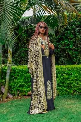Belted Kaftan Dress & Matching Kimono image 4