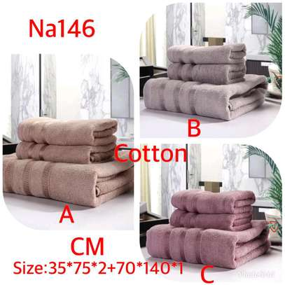 3 in 1 quality cotton towels image 1