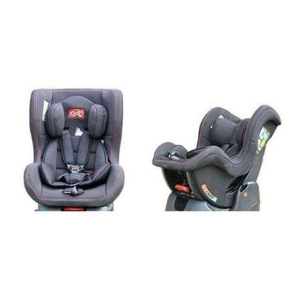 Reclining Baby Car Seat - Grey (0-5yrs) + a baby neck support pillow image 1