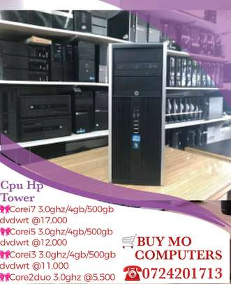 Cpu Hp tower corei7 3.2ghz/4gb/500gb dvd wrt image 1