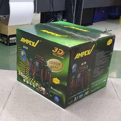 Ampex A18 3.1 Channel 12000 Watts Multimedia Speaker System-Black image 3