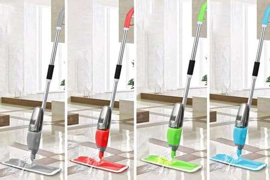 Spray mop with extra cloth,scrapper and window cleaner image 4