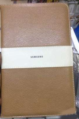 Samsung Logo Leather Book Cover Case With In-Pouch For Samsung Tab A 8.0 inches image 1