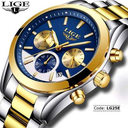 Lige Men Business Watch Full Steel image 1