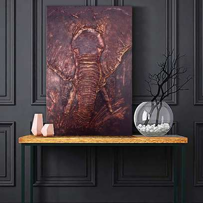 Modern Abstract Textured Elephant