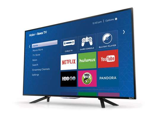 British HAIER Tv 43 Inch Smart Android with Netflix Google Playstore YouTube WiFi Brand New image 1